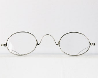 Antique silver Edwardian spectacles,oval,  glasses, The Star Finder