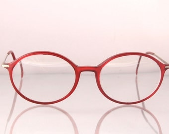 1980's red & gold oval designer glasses, Robert Claude, France, The Red Night