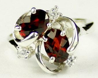 Mozambique Garnet, 925 Sterling Silver Ladies Ring, SR016