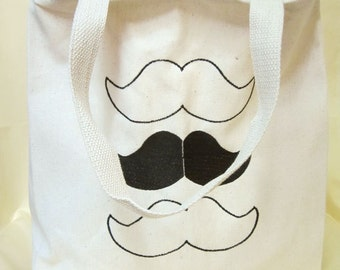 Steampunk Mustache Fancy Man Tote Bag Natural Canvas