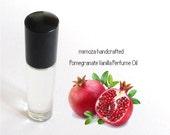 POMEGRANATE VANILLA, Perfume Oil, Handmade Perfume Oil in a 7ml Glass Roller Ball Bottle