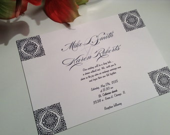 wedding invitations Modern flair wedding invitation suite