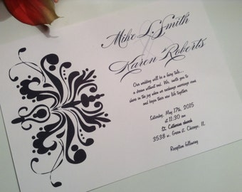 wedding invitations Damask wedding invitation suite