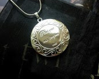 Renesmee Twilight inspired silver plated locket on 925 stamped silver plated chain 18 inches free gift pouch