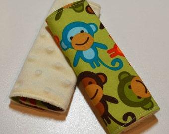 Car Seat Strap Covers - Monkeys