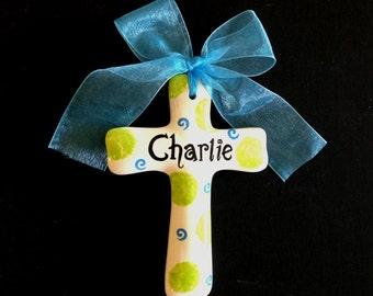Baptism gift, personalized Cross, Christening, Easter cross or Shower Gift