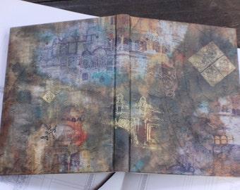 "NEW! Hand bound notebook, handmade journal, antique diary for precious memories: ""Belonging"""
