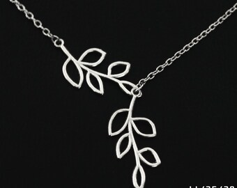 Beautiful Double branch necklace,charm necklace for mom sister,silver branch necklace,love necklace, Affordable Valentines day gift,