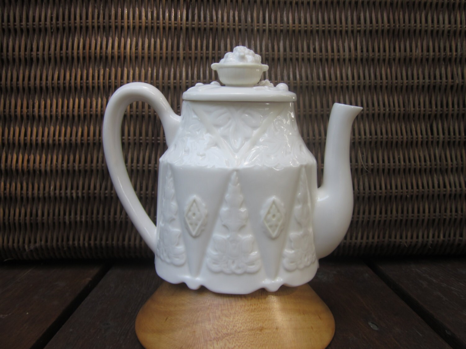 vintage white lenox teapot butlers pantry collectible