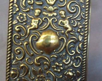 Vintage Brass Art Nouveau Match Box Holder/Striker
