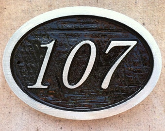 Custom Numbers House Number Sign - Custom Carved Signs