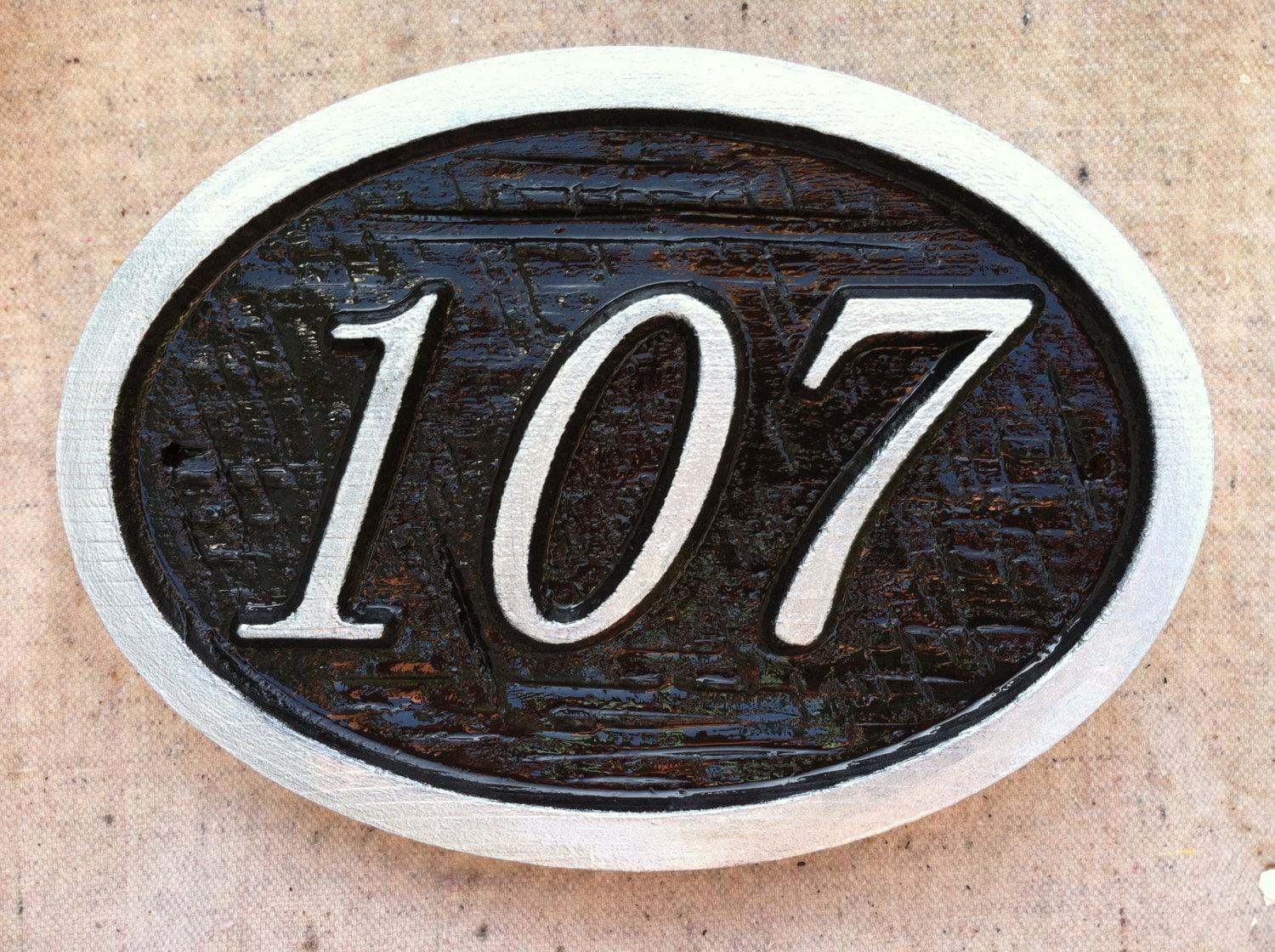 Custom numbers house number sign custom carved signs - Decorative house number signs ...