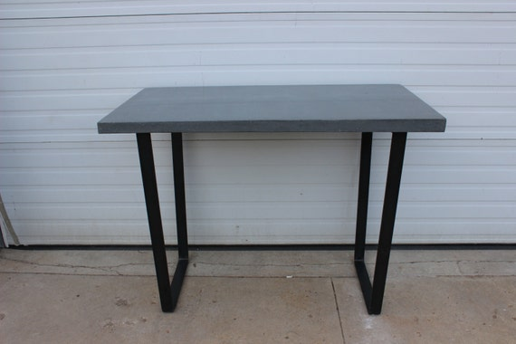 Concrete And Steel Kitchen Dining Patio Table With By Dendroco