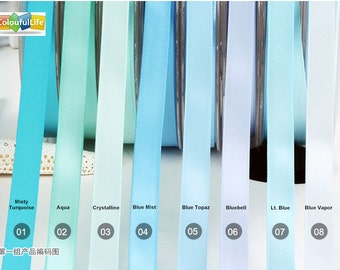 """10 yards, 1.5"""", 38mm, 1.5 inch, Double faced Satin Ribbon, Light Blue, satin for wedding"""