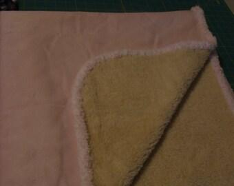 Microfleece from Springs Creative Super Soft Baby Blanket + 2 bibs and 1 burp rag