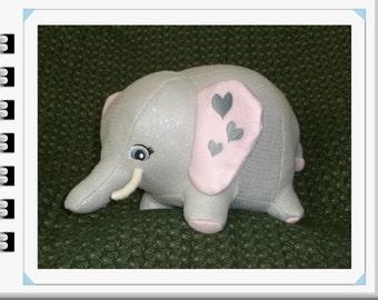 Clearance Sale !/Elephant Stuffed Animal/Pink Elephant Toy/Stuffed Elephant/Pink Elephant Stuffed Animal/Ready to Ship/Sale/Jungle Animal