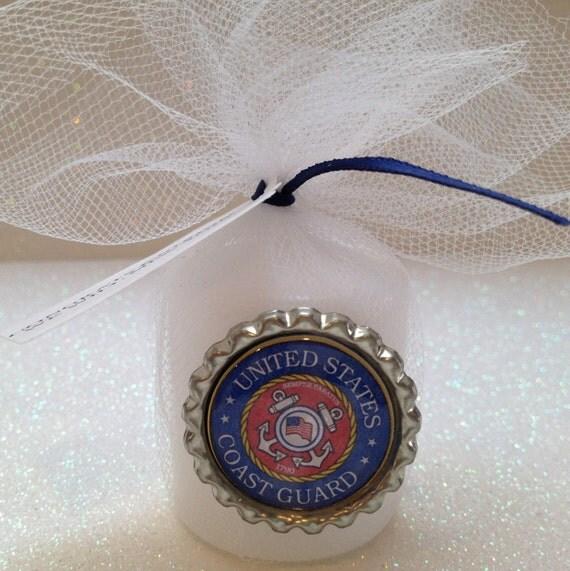 10 US Coast Guard Candle Favors Coast Guard By TotalBlissBoutique