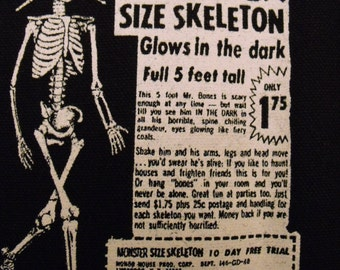 SKELETON comic book ad patch horror weird strange Free Shipping