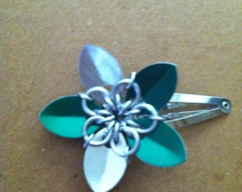 scalemaille flower hairclip