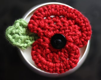 Remembrance Poppy Crochet Pattern