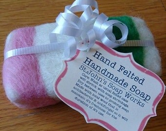 Hand Felted Handmade Soap