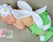 Crochet Fairy Costume Diaper Cover Set Photography Prop