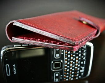 Handcrafted leather russet wallet