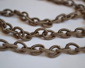 Brown Nylon and Rubber Chain, Lightweight Chain, Destash - PebblesDestash