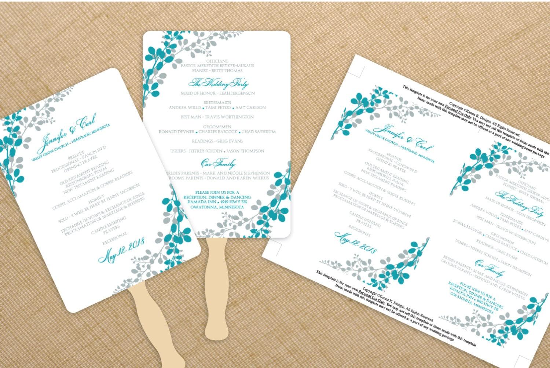 Downloadable program templates wedding search results calendar 2015 for Wedding fan template