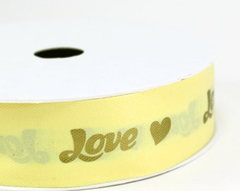 "Love Ribbon 1-5/8"" (spool of 50 yards)  - ** FREE SHIPPING **"