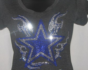 Dallas Cowboys Inspired Star with Flair T Shirt