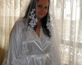 Lace veil, Bridal veil, traditional veil, romantic veil