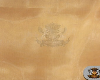 "Mirror Organza Solid LIGHT GOLD Fabric / 58"" Wide / Sold by the yard"