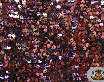 """Sequin Micro Dye Paillete PURPLE Fabric / 54"""" Wide / Sold by the yard"""