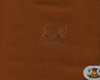"""Canvas Duck 10 oz Dyed Solid Fabric POTTING SOIL BROWN / 60"""" W / Sold by the yard"""