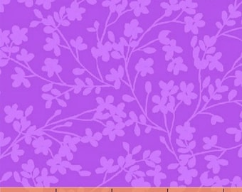 Fat Quarter Spin - Small Floral in Purple - Cotton Quilt Fabric - by Whistler Studios for Windham Fabrics (W1266)