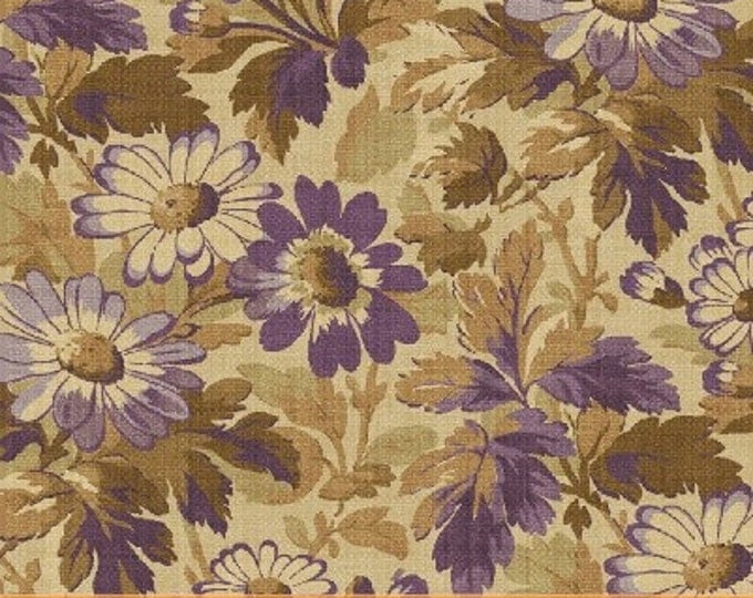 SUPER CLEARANCE! One Yard Rebecca - Floral Allover in Purple - Cotton Quilt Fabric - by Mary Koval  - Windham Fabrics (W305)