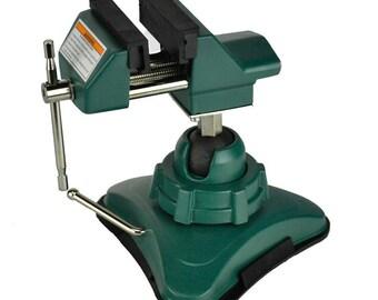 "2-3/4"" Vacuum Base Vise Jewelers Hobby Bench Vice Tool 360 Swivel Tilts Rotates"