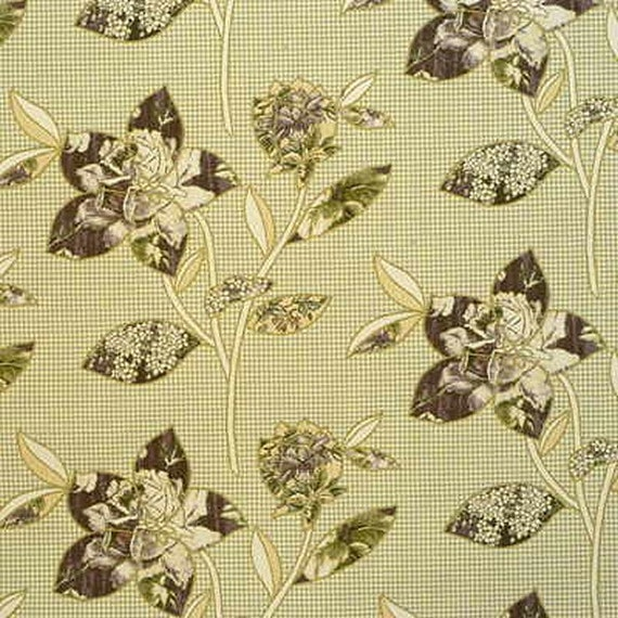 kravet italy patchwork floral lilac cotton upholstery drapery fabric