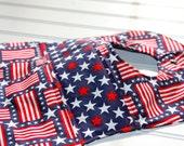 Baby Bib- patriotic, stars and strips baby girl or baby boy bib - AdrienneAndAbner
