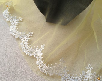 Ivory Lace Trim, Victorian Lace, Ivory Bridal Veils Lace, Wedding Cakes, Couture Sewing, 2 yards