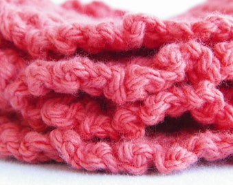 Squeaky Clean - Set of 4 - 100% Crochet Cotton Coasters - Facial Scrubbies - Drink Coasters Set - Facial Scrub Pads