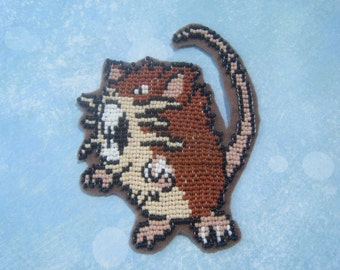 Pokemon Beaded Patch - Raticate