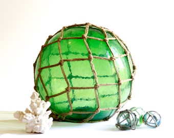 Large Green Glass Float