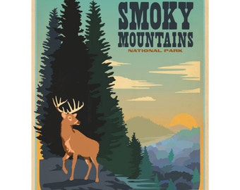 Great Smoky Mtns Park Tennessee Wall Decal #42266