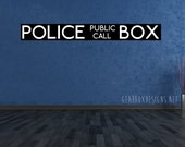Doctor Who Tardis Police Box 2 Color Vinyl Decal. Huge Sizes Available!