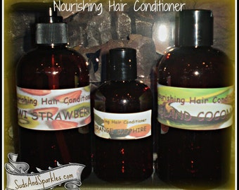 Nourishing Hair Conditioner - Paraben & SLS Free - Essential Oil List - Free Shipping