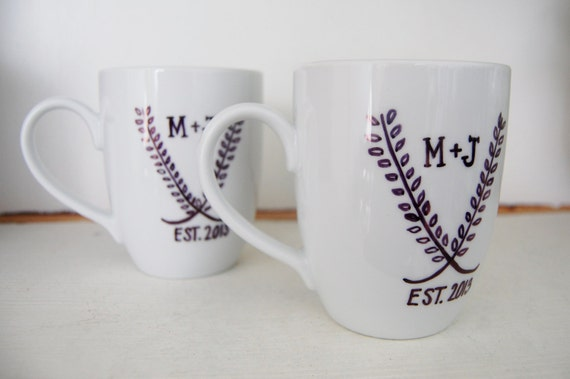 Practical Wedding Gifts For The Newlyweds: Personalized Coffee Mug . Wedding Gifts . Engagement Gifts