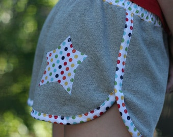 Sporty Shorts unisex short pattern - short and long length - PDF pattern