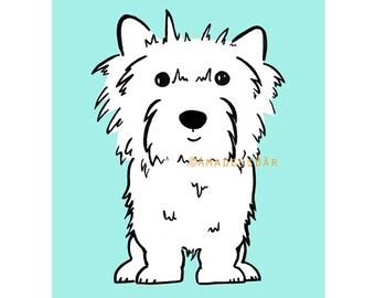 Westie Print - West Highland White Terrier - Dog Print